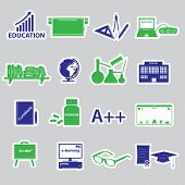 Teacher Profession And Teaching Stickers Eps10