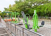 Exercise Machines In Beomil-dong Park Of Busan, Korea