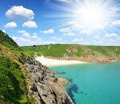 Porthcurno Beach,England