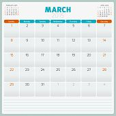 image of tuesday  - Calendar planner 2015 template week starts sunday - JPG