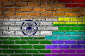 Dark Brick Wall - Lgbt Rights - India