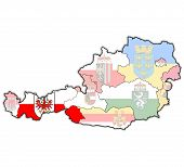 Tirol On Map Of Austria