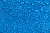 Rain Water Droplets On  Waterproof Fabric