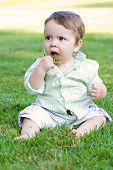 Baby Essen Gras