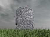 Mouse on tombstone - 3D render