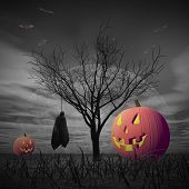 pic of corpses  - Halloween scenery with pumpkins - JPG