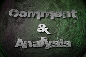 Comment And Analysis Concept