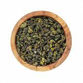 Oolong Green Tea Heap In Bowl