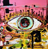 abstract composition of human eye