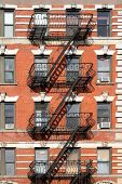 Building with fire escapes