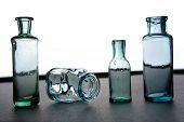 Glass vintage jars