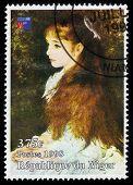 Painting By Pierre Auguste Renoir, Portrait Irene Cahen Danvers