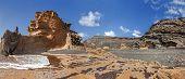 Lanzarote - Landscape in Charco de los Clicos
