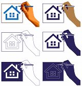 Hand Drawing House