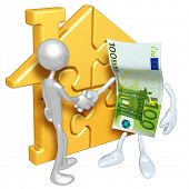Gold Home Puzzle And Money