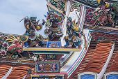 stock photo of malacca  - Roof sculptures of Cheng Hoon Teng chinese Temple in Malacca City - JPG