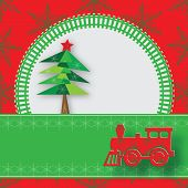 New Year Image With Railway And Steam Locomotive.