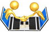 Gold Guys E-Business Handshake