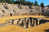 Roman Amphitheatre, Italica, Spain.
