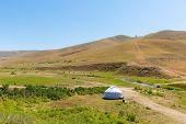 Kazakh Yurt In Assy Plateau In Tien-shan Mountain  In Almaty, Kazakhstan Asia