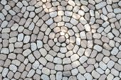Mosaic of oval cobblestones