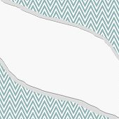 Blue And White Chevron  Zigzag Frame With Torn Background