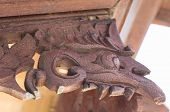 Wooden Fragment Of Traditional Decoration Of The Building, Bali