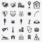 Pet Care icons set. illustration eps10