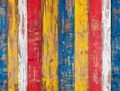 Colorful Wooden Wall. Seamless Background Texture