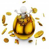 Man In A Golden Egg
