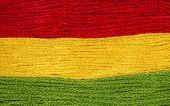foto of rastaman  - bright iridescent thread floss for embroidery and needlework - JPG