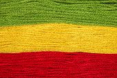 image of rastaman  - bright iridescent thread floss for embroidery and needlework - JPG