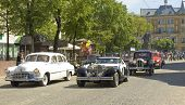 Retro Cars Berlina Coupe, Zaporozhets And Bmw On Rally