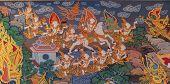 Thai Style Mural Painting :siddhartha Gautama Escape From Castle