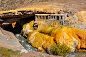 Gorgeous Puente Del Inca Ruins Between Chile And Argentina