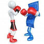 Boxer Versus Home Construction Blueprint