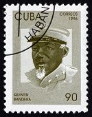 Postage Stamp Cuba 1996 Quintin Bandera, Revolutionary