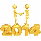 Gold Guy Business Handshake 2014