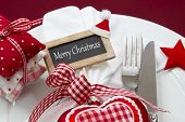 Decoration of christmas tableware