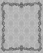 pic of damask  - Vector vintage card with floral ornament design - JPG