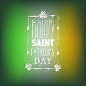 picture of irish flag  - Greeting Card for Saint Patricks Day on Blurred Irish Flag Background - JPG