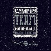 College Print Baseball Team