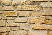 Closeup of stone wall