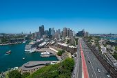 View Of Sydneys Cbd From The Eastern Pylon Lookout
