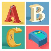Alphabets Concept In 3D