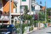 People On Street In The Resort Town Bellaria Igea Marina, Rimini, Italy