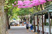 Tourists In The Resort Town Bellaria Igea Marina, Rimini , Italy
