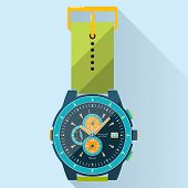 Flat Luxury Watches Illustration