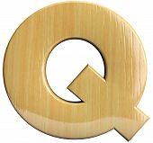 Wooden Letter Q