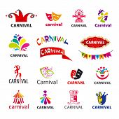 Big Set Of Vector Icons Carnival